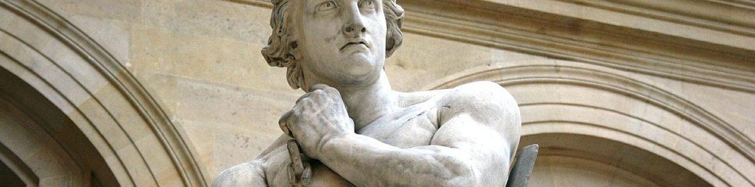 Rzeźba Spartakusa aurostwa Denisa Foyatiera