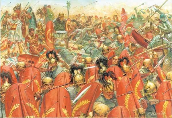 Encircled troops of Publius Crassus at Carrhae