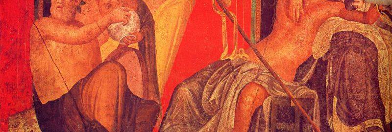Rzymski fresk ukazujący misteria dionizyjskie