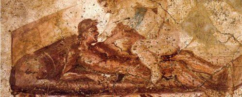 Roman fresco depicting a sex scene