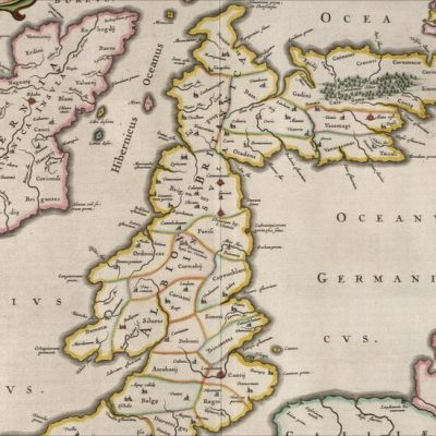 Map of the British Isles from 1654 with Hibernia