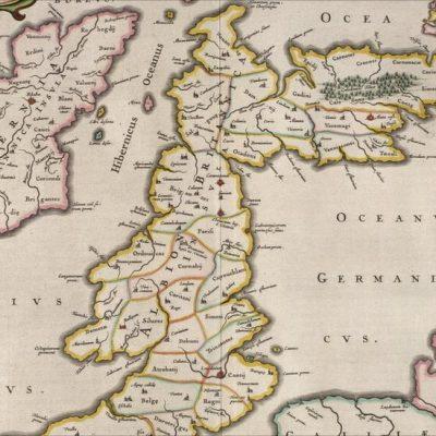Mapa Wysp Brytyjskich z roku 1654 z Hibernią