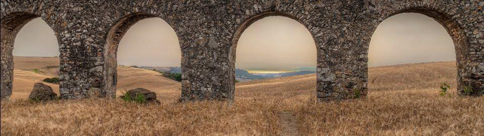 Roman aqueduct in Tarquinia (central Italy)