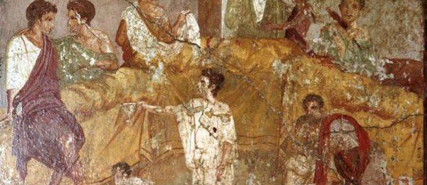 Cena na rzymskim fresku