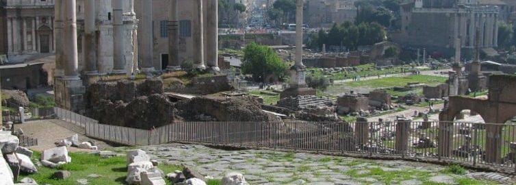 Clivus capitolinus zaczynające w pobliżu świątyni Saturna