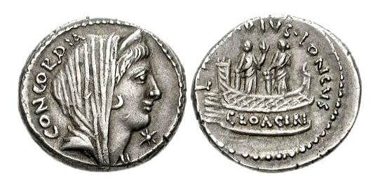 Denar L. Mussidiusa Longusa