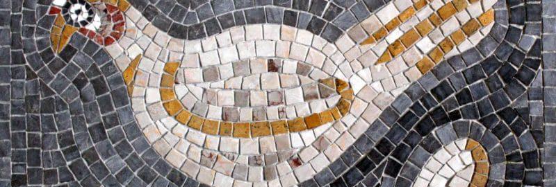 Kurczak na mozaice rzymskiej