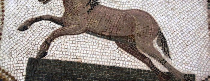 Koń na rzymskiej mozaice