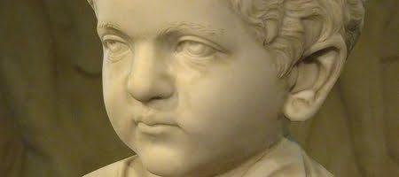 Roman child bust