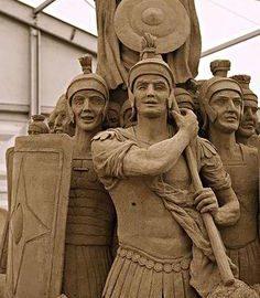 Roman sand sculpture