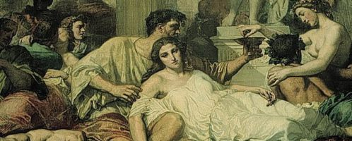 How did commoners eat and how did patricians eat?