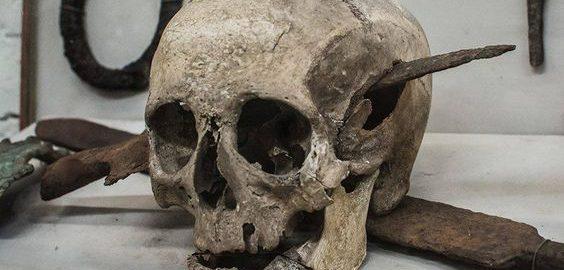 Skull of a Roman legionnaire
