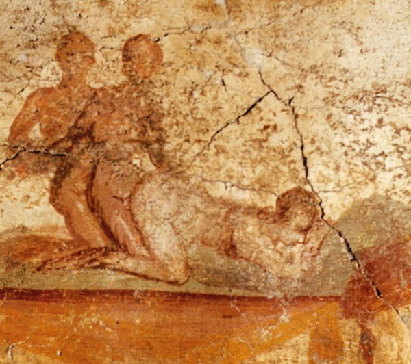 Roman fresco showing sex