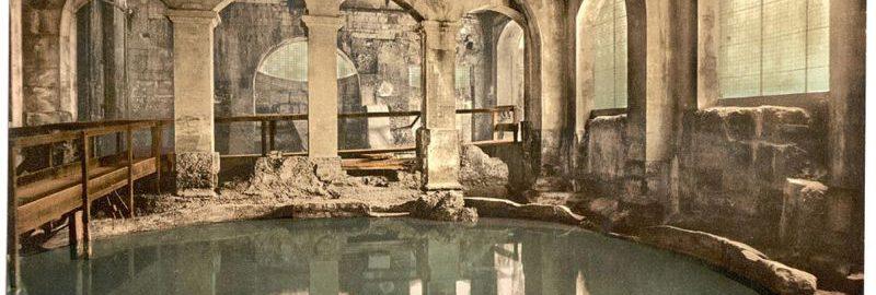 Rzymskie termy w Bath (Anglia) z roku 1900