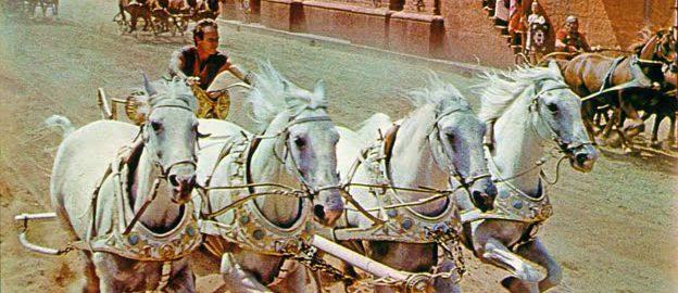Scena z filmu Ben Hur, rok 1959
