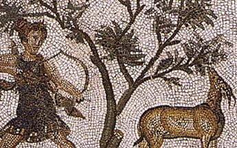 Rzymska mozaika ukazująca polowanie