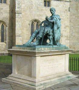 Pomnik Konstantyna z brązu w Yorku w Anglii