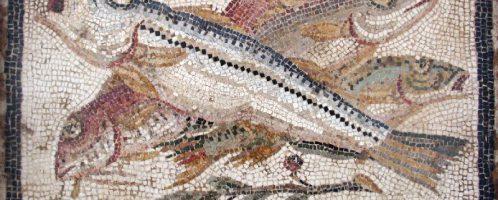 Fish on the Roman mosaic