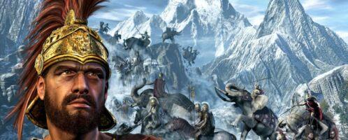 Hannibal na czele wojska w Alpach