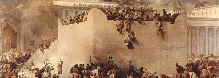 Zburzenie świątyni w Jerozolimie, Francesco Hayez