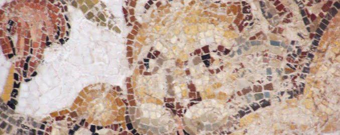 Lion on Roman mosaic