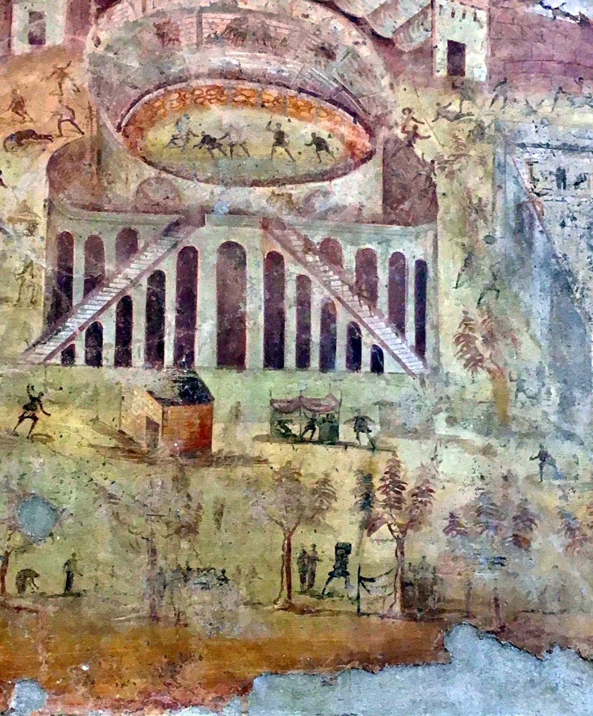 Fresk ukazujący zamieszki