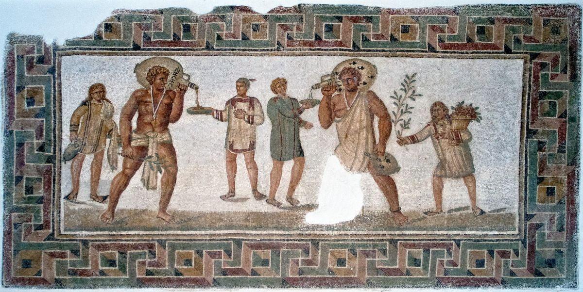 Mozaika rzymska ukazująca niewolników
