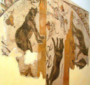 Zwierzęta na rzymskim fresku