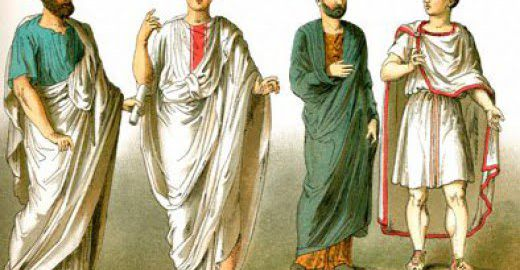 How did the Romans dress?