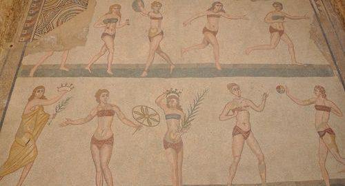 The Roman women practiced