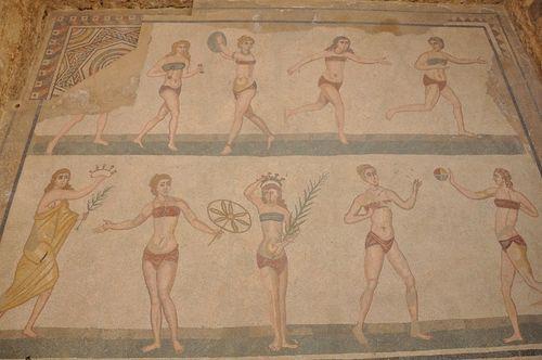 Rzymianki ćwiczyły