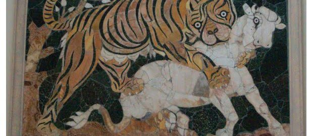 Animals on a Roman work of art
