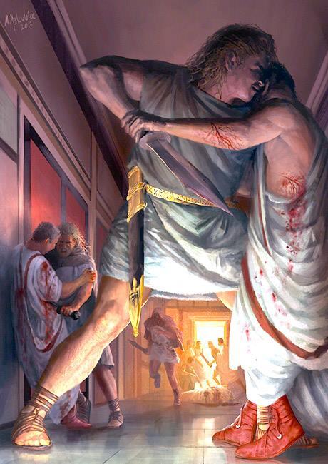 Śmierć Kaliguli | Autor: Milek Jakubiec