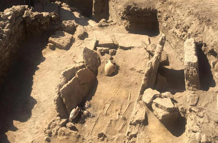 Rzadki grobowiec w Pompejach