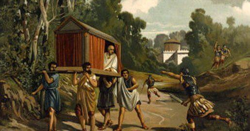 Obraz ukazujący śmierć Cycerona