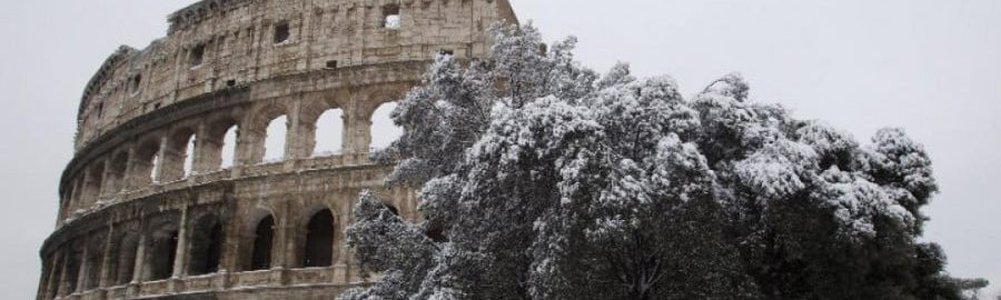 Colosseum in the snow