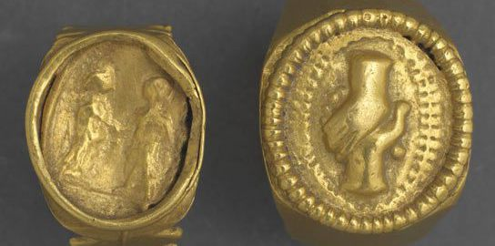 Did the Romans wear wedding rings as a sign of love?