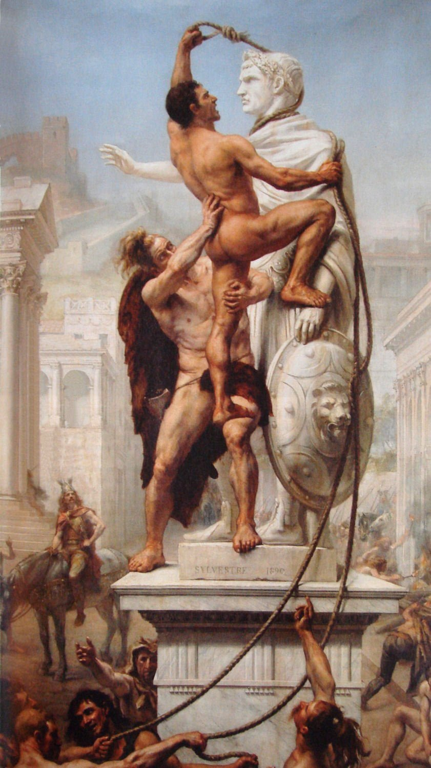 The Sack of Rome by the Barbarians in 410, Joseph-Noël Sylvestre