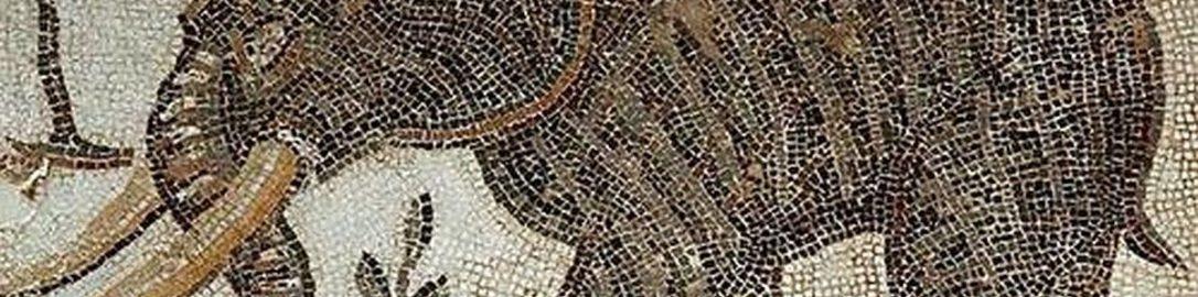 Elephant on Roman mosaic