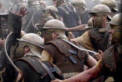Legioniści rzymscy w walce