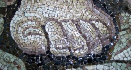 Mozaika ukazująca stopę