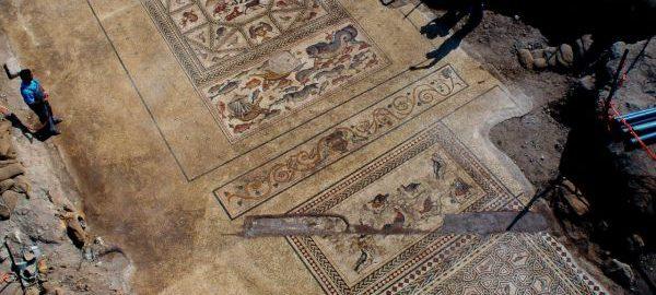 Roman mosaic in Israel