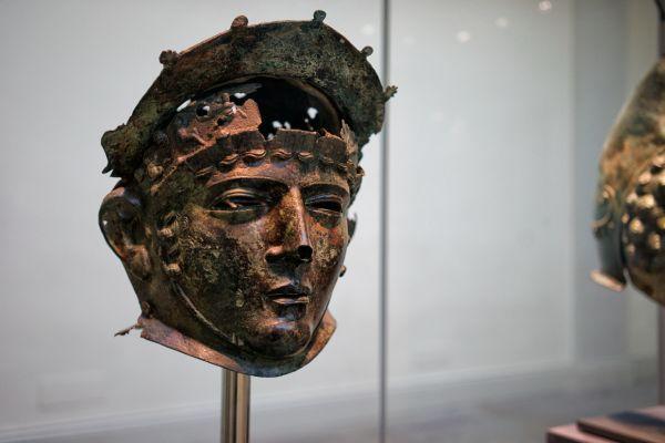 Roman helmet worn by elite units