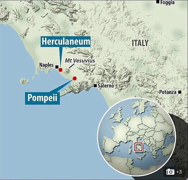 Herkulanum na mapie