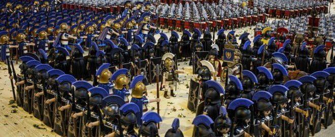 Playmobil blocks in the Battle of Zama