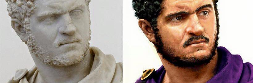 Reconstruction of the image of Caracalla