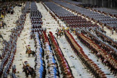 Roman army made of blocks