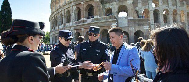 Chińska policja w Rzymie