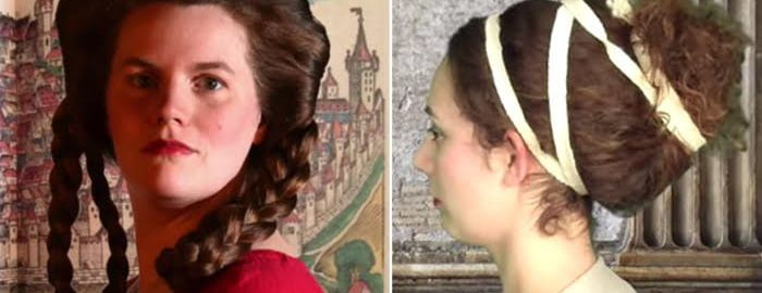 Rzymskie upięcia włosów