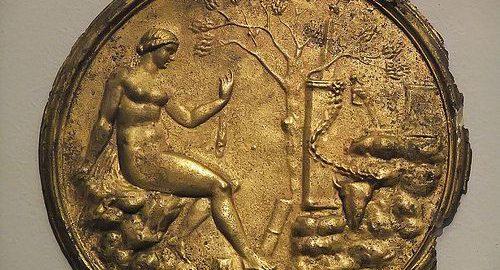 Pozłacane lusterko rzymskie